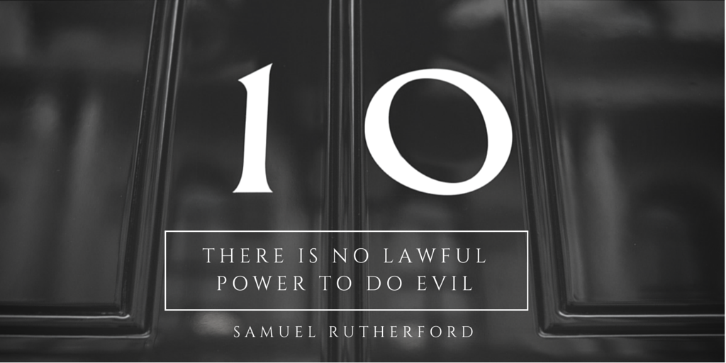 There is no Lawful Power to Do Evil