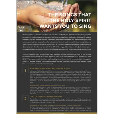 The Songs that the Holy Spirit Wants You to Sing