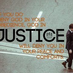 No Obedience, No True Comfort